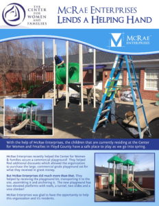 Center for Women Families Playground - McRae Enterprises