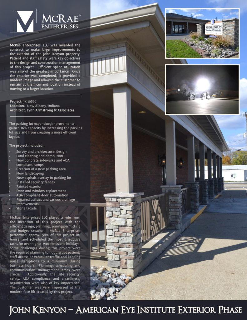 John Kenyon - American Eye Institute Construction - New Albany, Indiana - McRae Enterprises