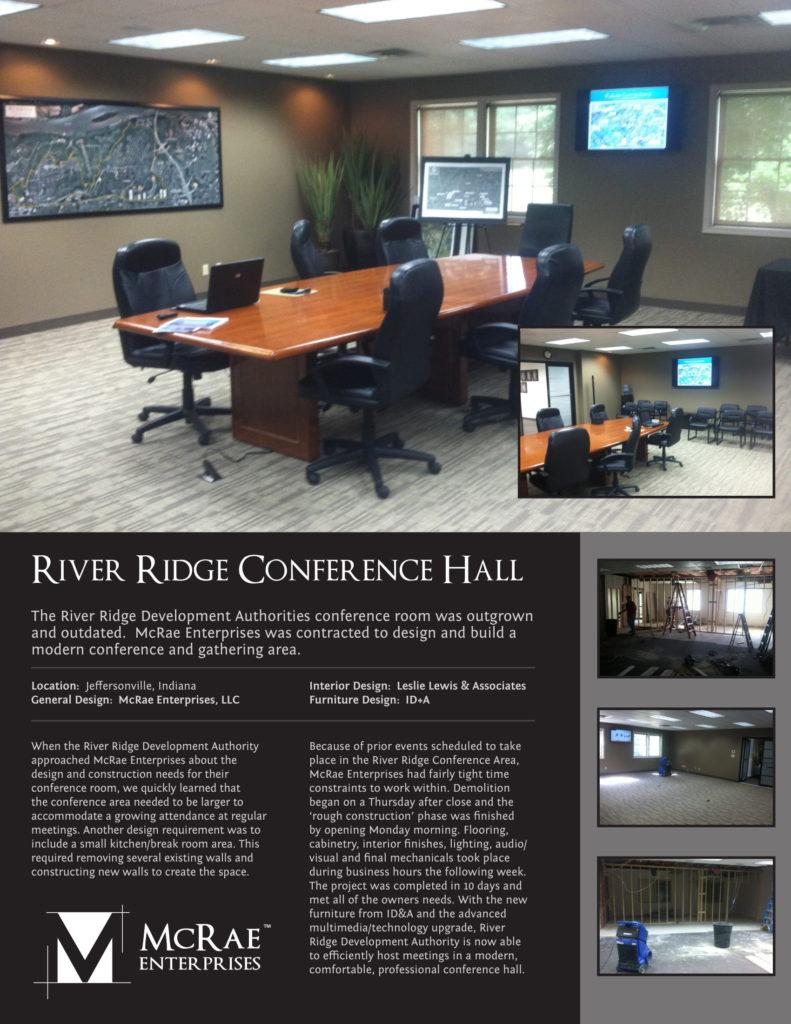 River Ridge Conference Hall Construction - Jeffersonville, Indiana - McRae Enterprises