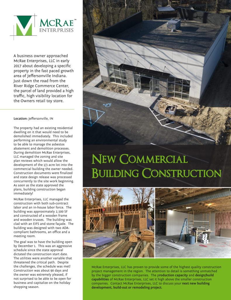 New Retail Toy Store Construction - Jeffersonville, Indiana - McRae Enterprises