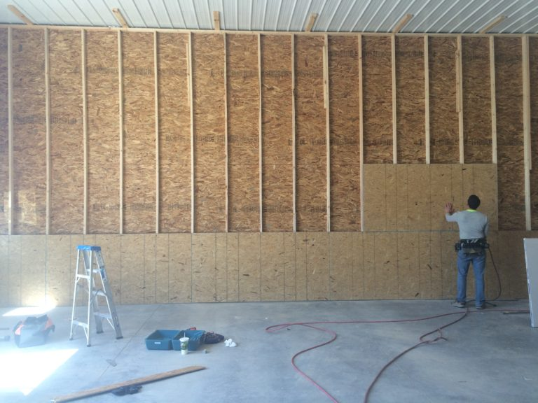 Commercial Framing Wall