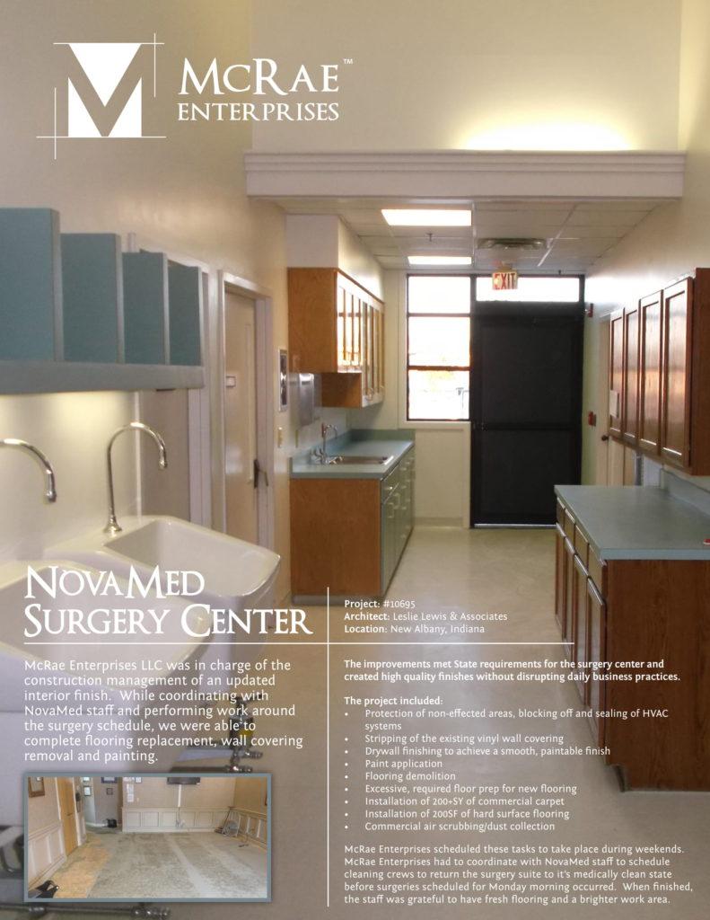 NovaMed Surgery Construction - New Albany, Indiana - McRae Enterprises